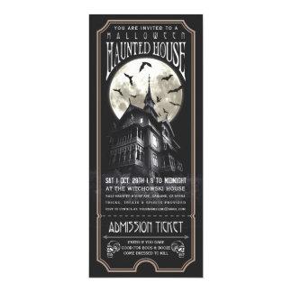Halloween a hanté l'invitation de billet de carton d'invitation  10,16 cm x 23,49 cm
