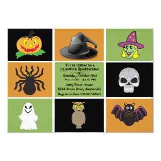 Halloween ajuste l'invitation de partie