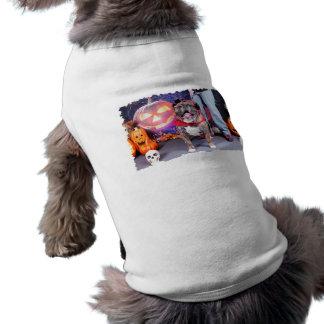 Halloween - bouledogue anglais - Butkus T-shirts Pour Animaux Domestiques