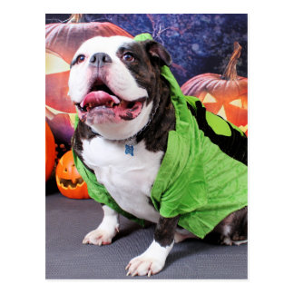 Halloween - bouledogue anglais - transitoire cartes postales