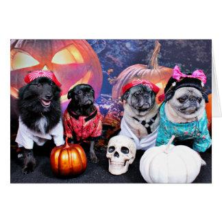 Halloween - carlin - Mme Wiggens d'ours de perle Cartes De Vœux