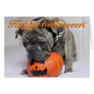 Halloween carte avec des Frenchie East