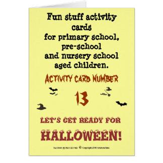 Halloween - carte d'activité de taille de note
