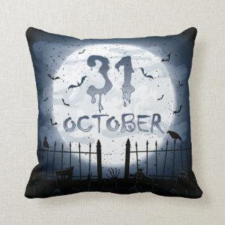 Halloween cimetière scènes 31 octobre coussin