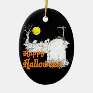 Halloween do-it-yourself ornement ovale en céramique