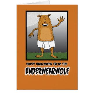 Halloween drôle : Underwearwolf Carte De Vœux