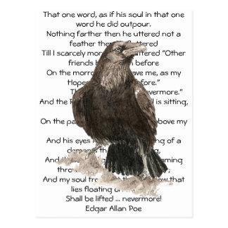 Halloween, Edgar Allen Poe, Raven, plus jamais Carte Postale