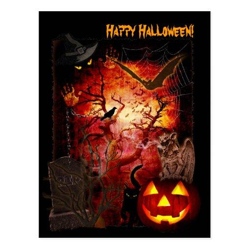 Halloween effrayant cartes postales