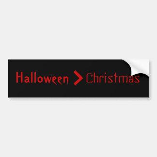 Halloween est plus grand puis Noël Autocollant De Voiture