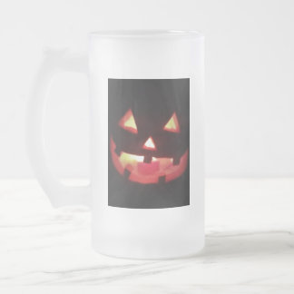 Halloween Frosted Glass Beer Mug