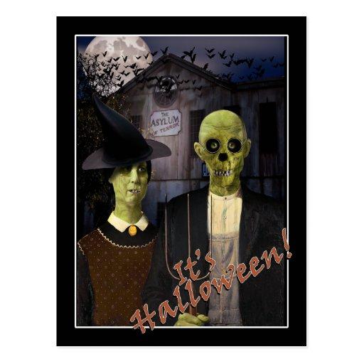 Halloween gothique américain cartes postales