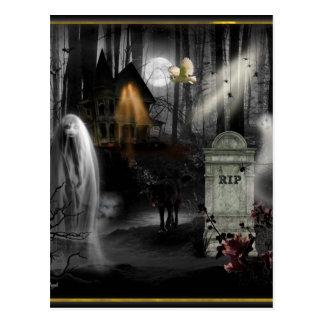 Halloween hanté carte postale