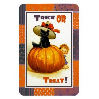 Halloween heureux ! Aimant vintage de cadeau de co Magnet Rectangulaire