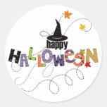 Halloween heureux autocollants ronds