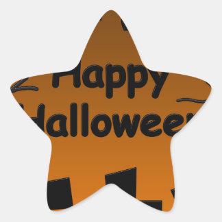 Halloween heureux - battes sur le cimetière sticker étoile