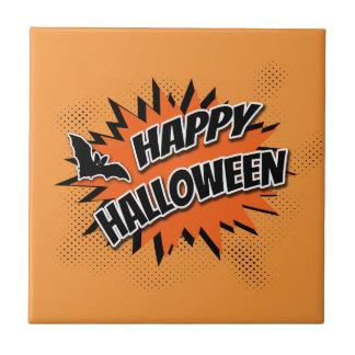 Halloween heureux carreau