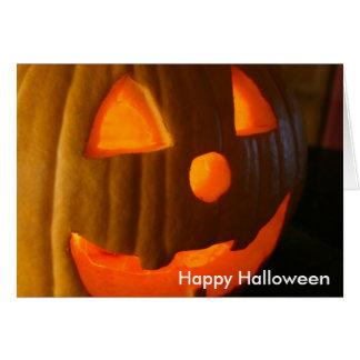 Halloween heureux carte de vœux