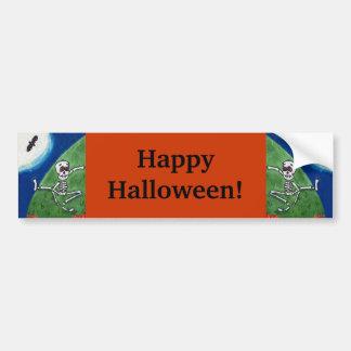 Halloween heureux dansant les battes idiotes de autocollant de voiture