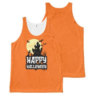 Halloween heureux débardeur tout-imprimé
