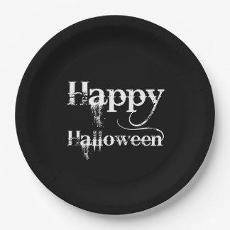 Halloween heureux éffrayant noir Goth Assiettes En Papier