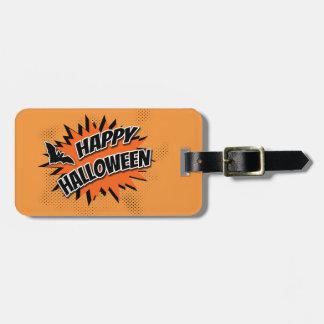 Halloween heureux étiquette à bagage