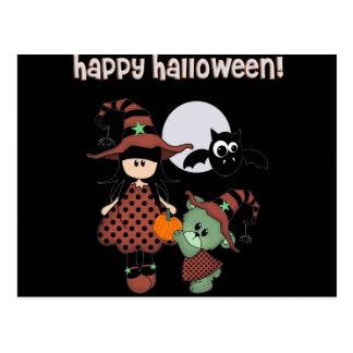 Halloween heureux fait sur commande carte postale