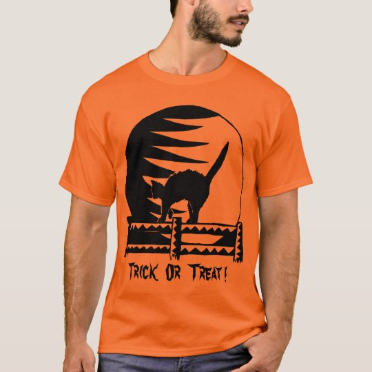 Halloween heureux - orange de des bonbons ou un t-shirt