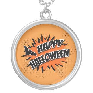 Halloween heureux pendentif rond