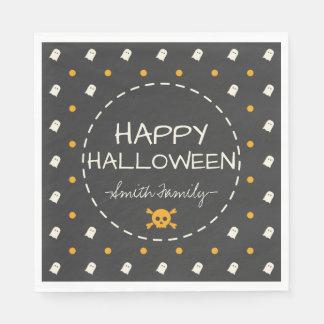 Halloween heureux. Points de polka mignons de Serviettes Jetables