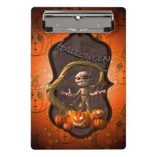 Halloween, maman drôle avec le citrouille mini porte-bloc