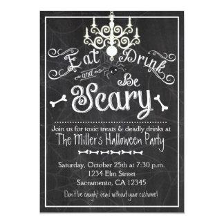 Halloween mangent la boisson soit invitation
