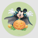 Halloween Mickey Mouse 1 Autocollants Ronds