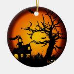 Halloween Ornement Rond En Céramique