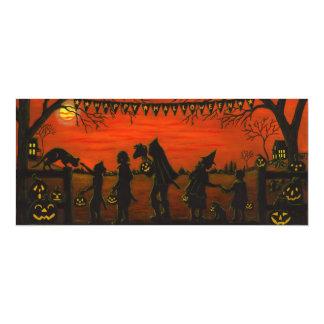 Halloween, party.invitations, des bonbons ou un carton d'invitation  10,16 cm x 23,49 cm