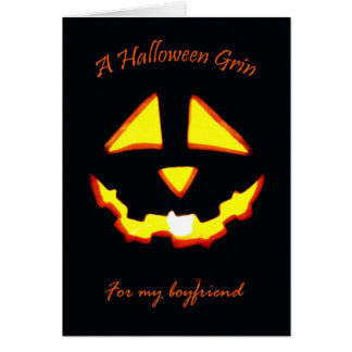 Halloween pour l'ami, grimace de lanterne d'o de carte de vœux