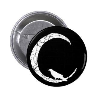 Halloween Raven et bouton de croissant de lune Badges