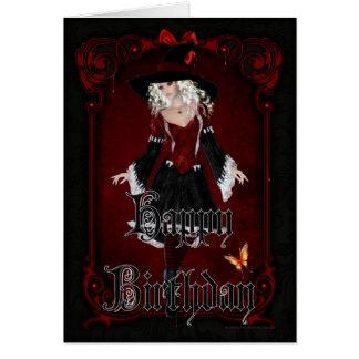 Halloween sorcière carte de joyeux anniversaire du