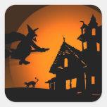 Halloween Sticker Carré