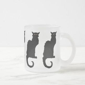 Halloween vintage, chat noir de Nouveau d'art Mug En Verre Givré