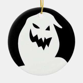 Halloween-visage Ornement Rond En Céramique