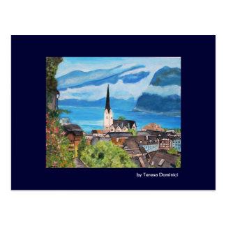 Hallstatt, carte postale de l'Autriche