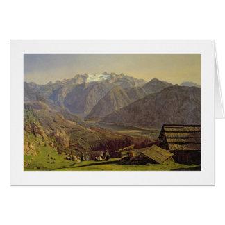 Hallstatter-Voyez (huile sur la toile) Carte De Vœux