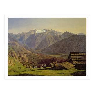 Hallstatter-Voyez (huile sur la toile) Carte Postale