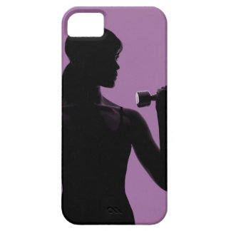 haltère de levage de fille sur l'arrière - plan coque Case-Mate iPhone 5