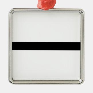 Haltère d'haltérophilie ornement carré argenté
