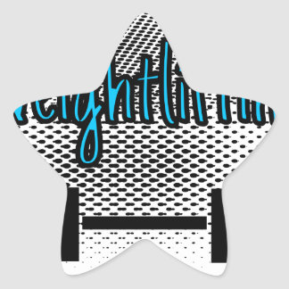 Haltérophilie Sticker Étoile