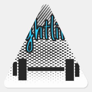 Haltérophilie Sticker Triangulaire