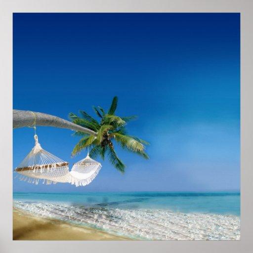 Hamac de plage affiches | Zazzle