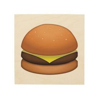 Hamburger de fromage - Emoji Impression Sur Bois