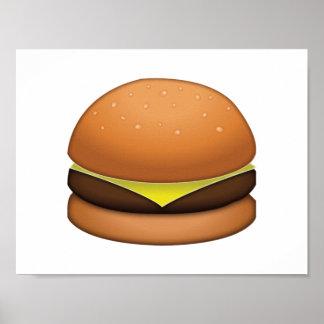 Hamburger de fromage - Emoji Poster